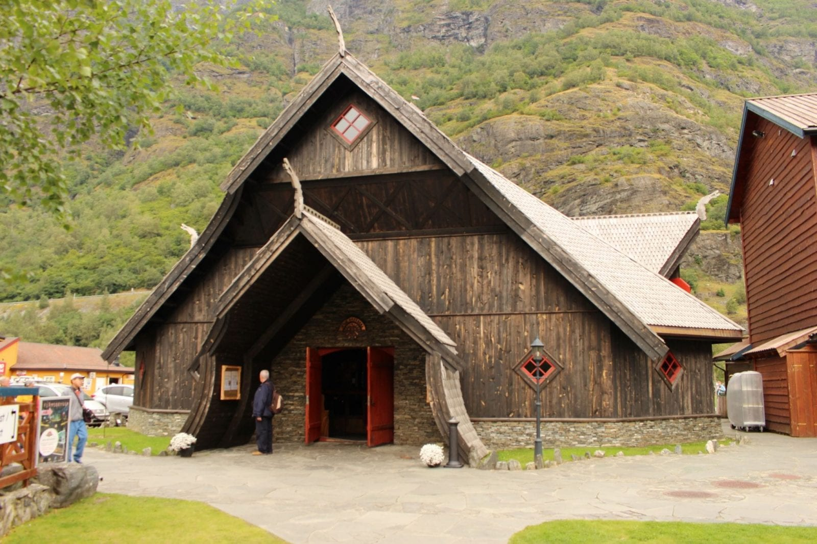 This is the architecture of the Egir Brew Pub in Flam, Norway.