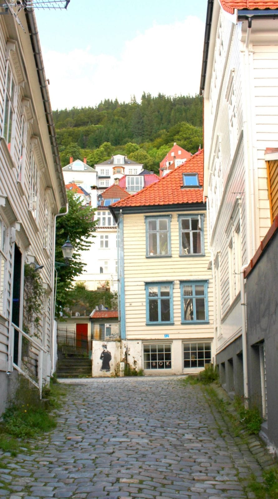 This is a glance at the amazing colorful streets of Bergen.
