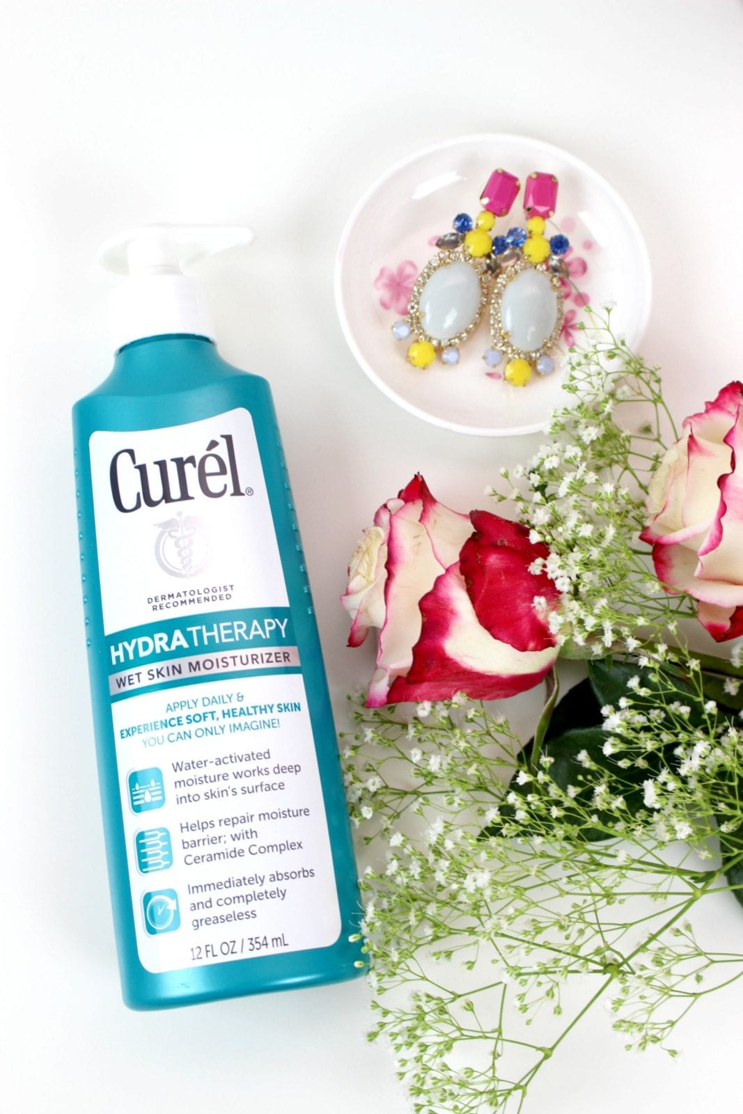 This is a close up of the Curel Moisturizer for Wet Skin