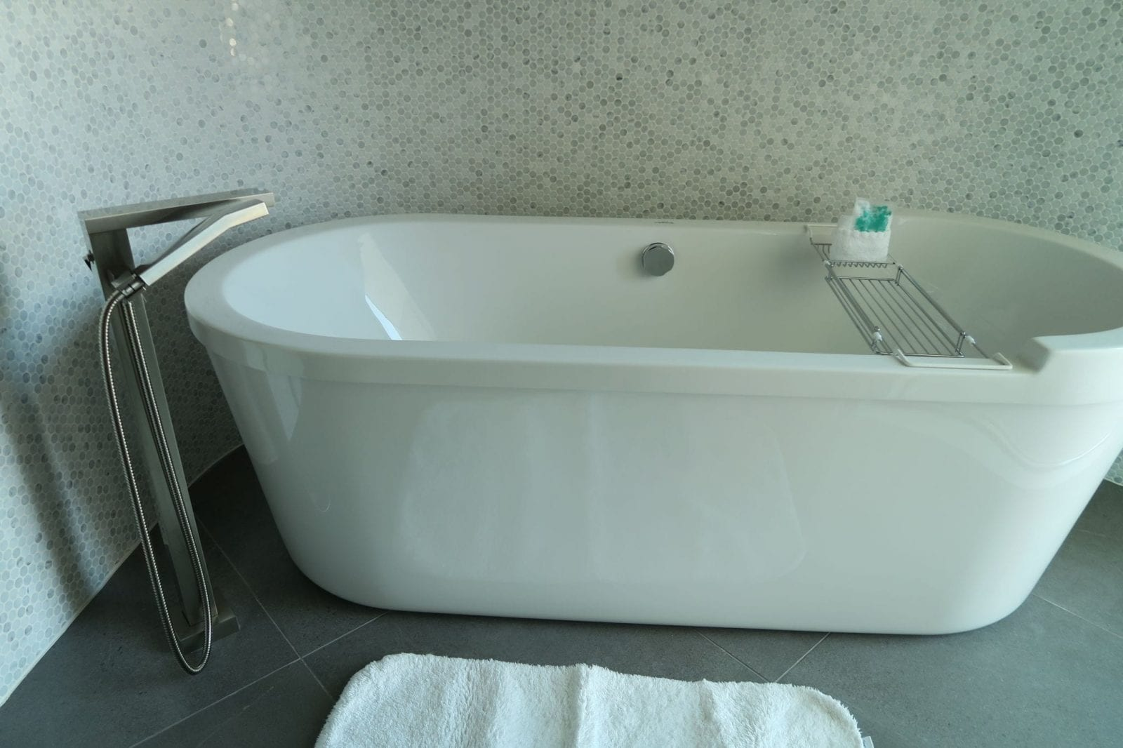 This is a close up of the floating tub at Mountain Shadows.