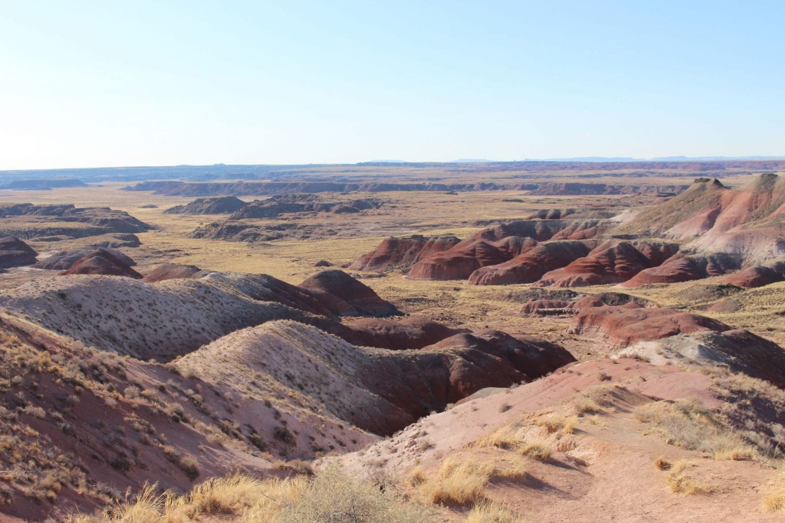 Scenic shot of the mountains at the Petrified National Forest.