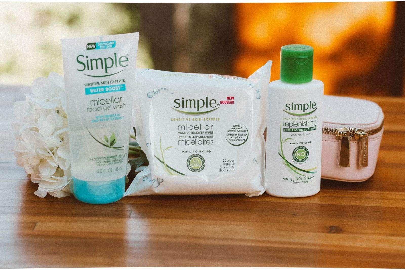 This is a close up of the Simple Skincare 3 Step Routine