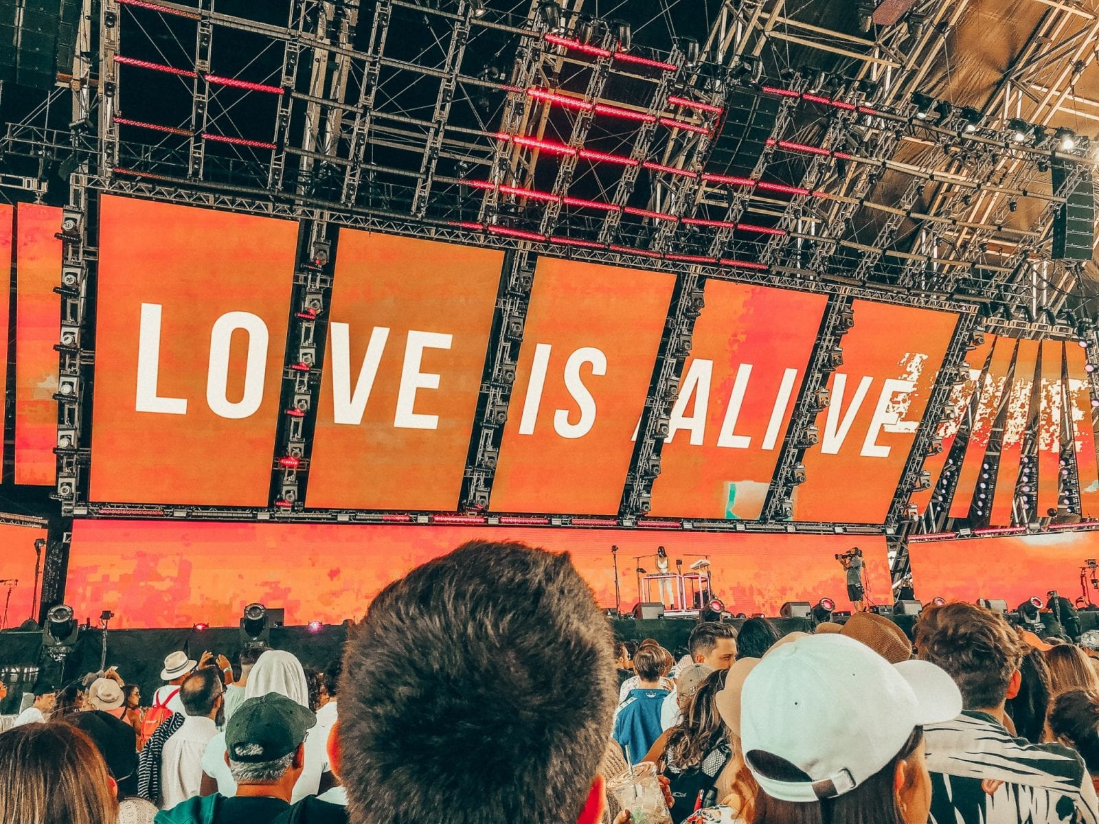 This is a photo of the decor at Coachella 2018.