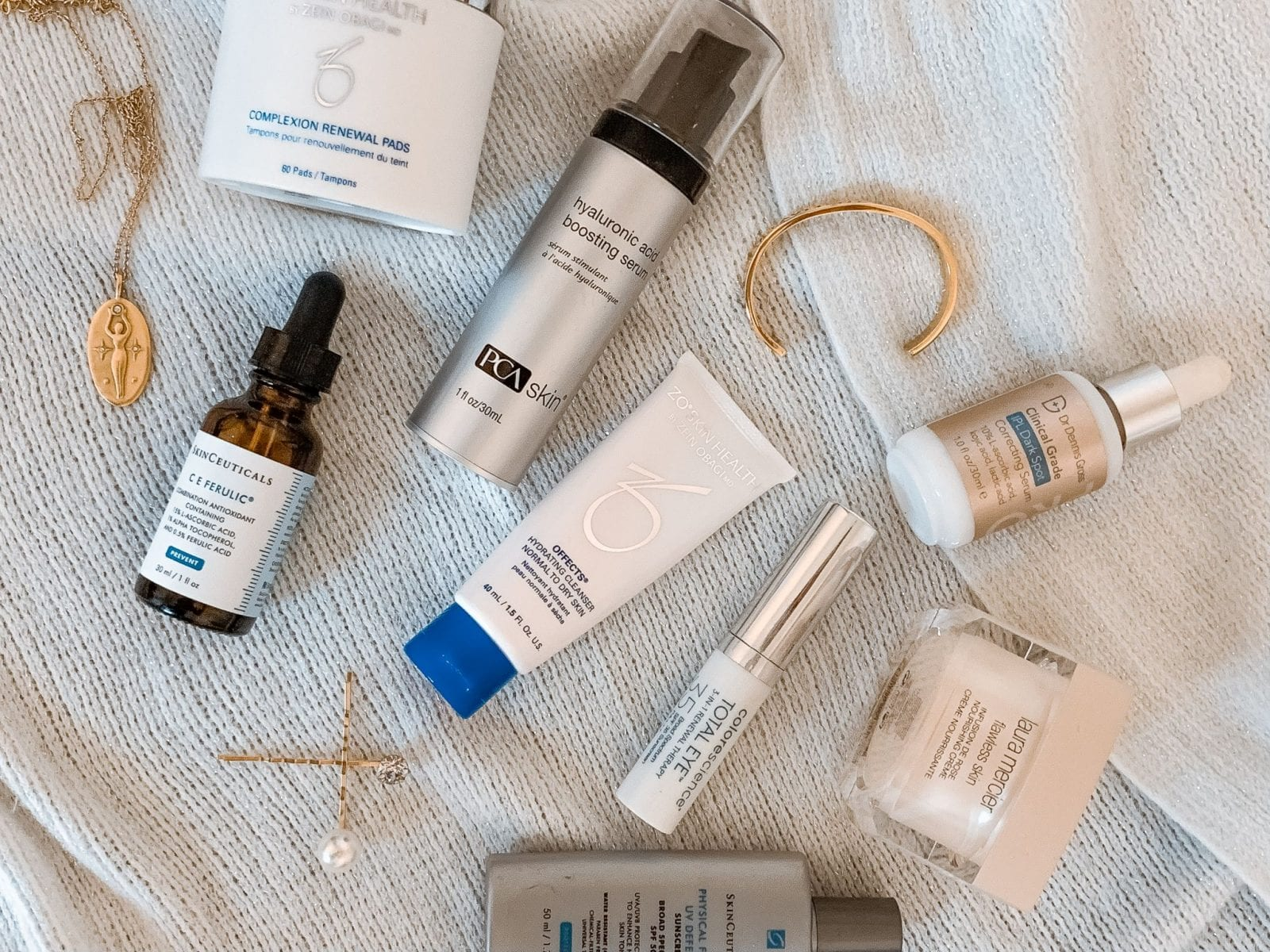After a chemical peel, my aesthetician recommended a very specific skincare routine to ensure my skin stayed hydrated and healthy incorporating Skinceuticals, PCA Skin, Dr Dennis Gross and Laura Mercier.